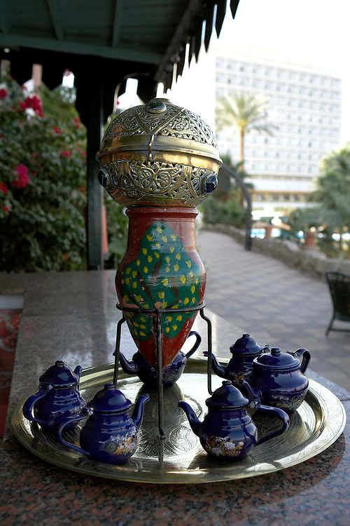 Tea caddy  Old Cataract Hotel  Aswan, Egypt