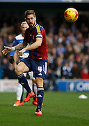 Ipswich Town defender Luke Chambers clears ay danger during the Sky Bet Championship match between Queens Park Rangers and Ipswich Town at the Loftus Road Stadium, London, England on 6 February 2016. Photo by Andy Walter.