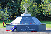 The Royal Logistic Corps Memorial at the National Memorial Arboretum, Croxall Road, Alrewas, Burton-On-Trent,  Staffordshire, on 29 October 2018. Picture by Mick Haynes.