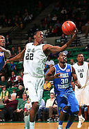 Dec 07, 2011; Birmingham, AL, USA; UAB Blazers forward Cameron Moore (22) grabs a pass during the game against the Middle Tennessee Blue Raiders at Bartow Arena. The Blazers defeated the Blue Raiders 66-56Mandatory Credit: Marvin Gentry-