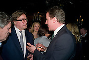 PIERS POTTINGER; DAVID CAMERON, Book launch for Citizen by Charlie Brooks. Tramp. London. 1 April  2009