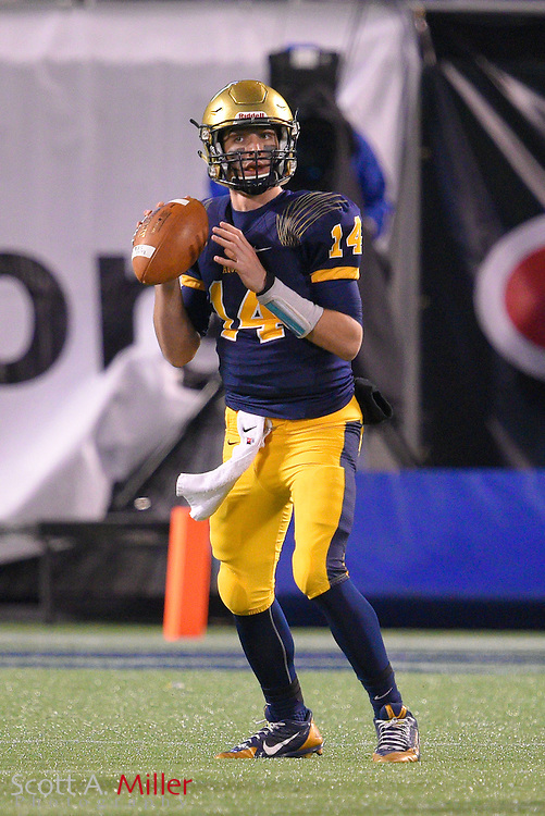 St. Thomas Aquinas quarterback Jake Rizzo (14) during the Florida State High School Class 7A state championship game at the Citrus Bowl on Dec. 12, 2014 in Orlando, Florida.<br /> <br /> &copy;2014 Scott A. Miller