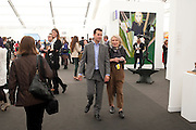 MATTHEW SLOTOVER; EMILY KING, OPENING OF FRIEZE ART FAIR. Regent's Park. London.  12 October 2011. <br /> <br />  , -DO NOT ARCHIVE-© Copyright Photograph by Dafydd Jones. 248 Clapham Rd. London SW9 0PZ. Tel 0207 820 0771. www.dafjones.com.