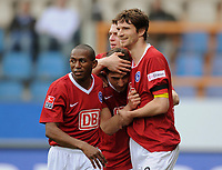 Fotball<br /> Bundesliga Tyskland<br /> 13.04.2008<br /> Foto: Witters/Digitalsport<br /> NORWAY ONLY<br /> <br /> Jubel 0:1 v.l. Mineiro, Rudolf Skacel, Arne Friedrich Hertha<br /> Bundesliga VfL Bochum - Hertha BSC Berlin 1:1