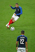 Kylian MBAPPE (FRA) to Corentin TOLISSO (FRA) during the FIFA Friendly Game football match between France and Republic of Ireland on May 28, 2018 at Stade de France in Saint-Denis near Paris, France - Photo Stephane Allaman / ProSportsImages / DPPI