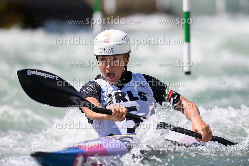 Stefanie Horn of Italy during the Canoe Single (WK1) Womens Semi Final race of 2019 ICF Canoe Slalom World Cup 4, on June 28, 2019 in Tacen, Ljubljana, Slovenia. Photo by Sasa Pahic Szabo / Sportida