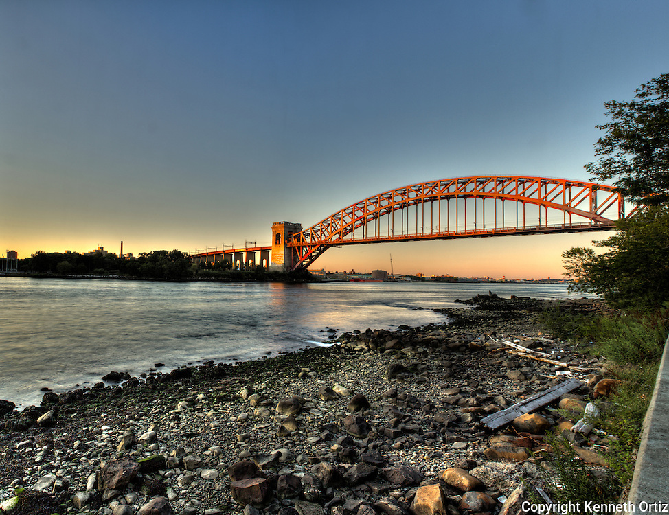 Hellgate Bridge in Astoria- Queens New York City.