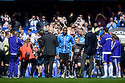 Leicester City Captain leads the guard of honour during the Barclays Premier League match between Chelsea and Leicester City at Stamford Bridge, London, England on 15 May 2016. Photo by Jon Bromley.