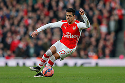 Alexis Sanchez of Arsenal in action - Photo mandatory by-line: Rogan Thomson/JMP - 07966 386802 - 15/02/2015 - SPORT - FOOTBALL - London, England - Emirates Stadium - Arsenal v Middlesbrough - FA Cup Fifth Round Proper.
