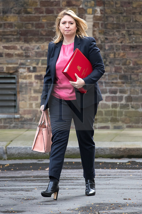 © Licensed to London News Pictures . 29/03/2017 . London , UK . KAREN BRADLEY arrives . Ministers arriving and leaving for a Cabinet meeting and Prime Minster's Questions , at 10 Downing Street , Westminster . Today (29th March 2017) the British Government will trigger Article 50 of the Lisbon Treaty and commence Britain's withdrawal from the European Union . Photo credit : Joel Goodman/LNP