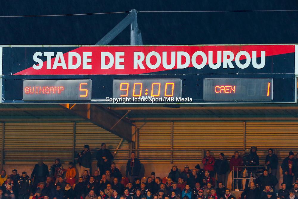 Illustration panneau d'affichage  - 03.12.2014 - Guingamp / Caen - 16eme journee de Ligue 1 <br /> Photo : Vincent Michel / Icon Sport