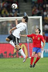 07.07.2010, Moses Mabhida Stadium, Durban, SOUTH AFRICA, Deutschland ( GER ) vs Spanien ( ESP ) im Bild Sami Khedira of Germany and  Xavi of Spain.Foto ©  nph /  Kokenge / SPORTIDA PHOTO AGENCY