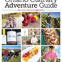Cover photos for Ontario Culinary Adventure Guide Summer 2011