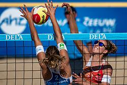 25-08-2019 NED: DELA NK Beach Volleyball, Scheveningen<br /> Last day NK Beachvolleyball / Sophie van Gestel #1