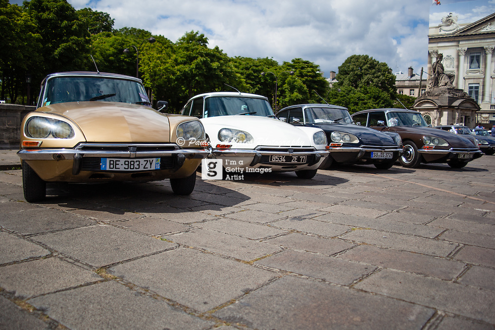 60 Years of the Citroen DS was celebrated in Paris in May 2015 with a DS rally through the centre of Paris, finishing at the Place de la Concord