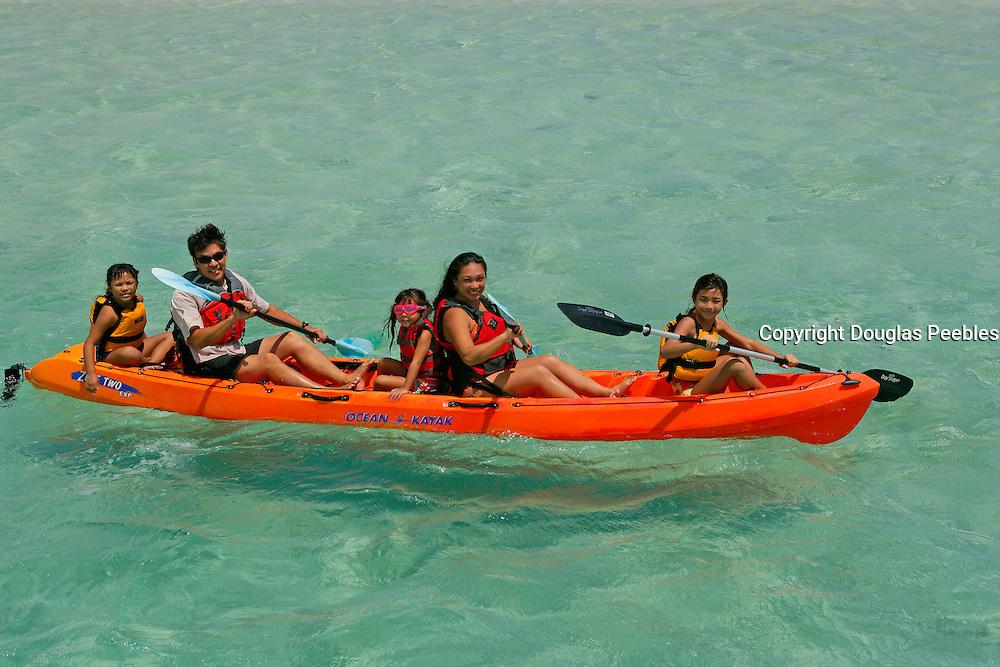 Kayaking, Kaneohe Bay Oahu, Hawaii<br />