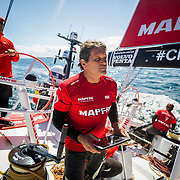 Leg Zero, St. Malo - Lisbon:  on board xx, . Photo by Jen Edney/Volvo Ocean Race. 13August, 2017