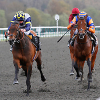 Talwar and Ryan Moore winning the 3.05 race