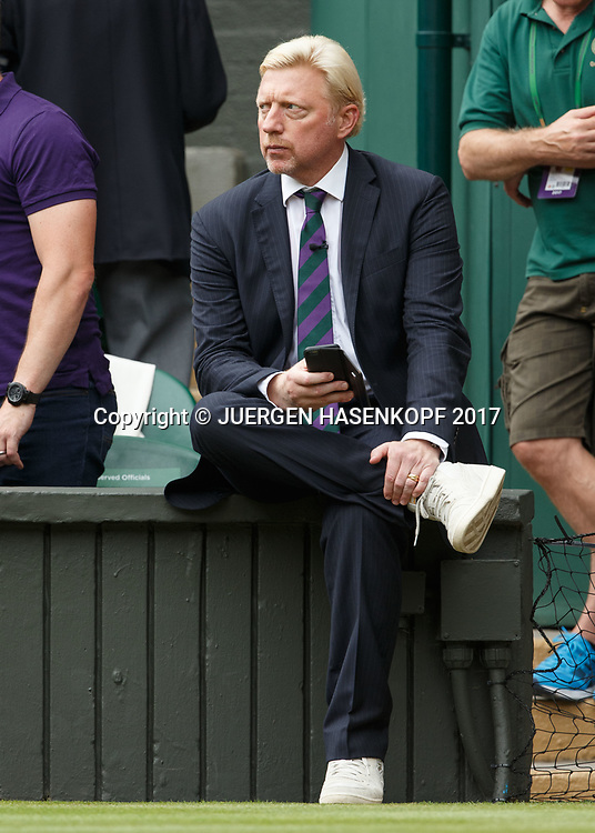 BORIS BECKER, TV Kommentator auf dem Centre Court<br /> <br /> Tennis - Wimbledon 2016 - Grand Slam ITF / ATP / WTA -  AELTC - London -  - Great Britain  - 16 July 2017.