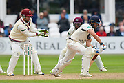 Wicket - Steve Davies of Somerset takes the catch to dismiss Dawid Malan of Middlesex off the bowling of Dom Bess of Somerset during the Specsavers County Champ Div 1 match between Somerset County Cricket Club and Middlesex County Cricket Club at the Cooper Associates County Ground, Taunton, United Kingdom on 27 September 2017. Photo by Graham Hunt.