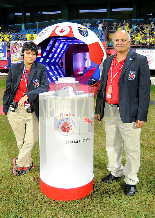 ISL officials and staff during match 34 of the Indian Super League (ISL) season 2 between Kerala Blasters FC and AtlŽtico de Kolkata held at the Jawaharlal Nehru Stadium, Kochi, India on the 10th November 2015.<br /> <br /> Photo by Pal Pillai / ISL/ SPORTZPICS