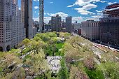 STOCK: Madison Square Park, 4 Seasons