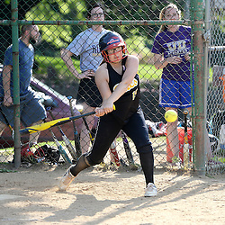 Staff photos by Tom Kelly IV<br /> Interboro's Becka Reifer (15) gets a hit during the Interboro at Upper Darby girls softball game, Friday afternoon.