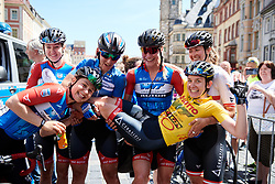 Kathrin Hammes (GER) defends the yellow jersey at Lotto Thüringen Ladies Tour 2019 - Stage 6, a 102 km road race in Altenburg, Germany on June 2, 2019. Photo by Sean Robinson/velofocus.com