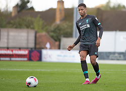 BOREHAMWOOD, ENGLAND - Saturday, September 28, 2019: Liverpool's Elijah Dixon-Bonner during the Under-23 FA Premier League 2 Division 1 match between Arsenal FC and Liverpool FC at Meadow Park. (Pic by Kunjan Malde/Propaganda)