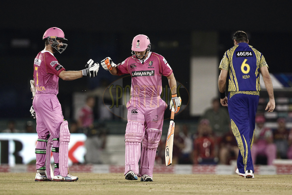 Kane Williamson of the NORTHERN KNIGHTS and BJ Watling of the NORTHERN KNIGHTS during match 3 of the Oppo Champions League Twenty20 between the Cape Cobras and the Northern Knights held at the Chhattisgarh International Cricket Stadium, Raipur, India on the 19th September 2014<br /> <br /> Photo by:  Deepak Malik / Sportzpics/ CLT20<br /> <br /> <br /> Image use is subject to the terms and conditions as laid out by the BCCI/ CLT20.  The terms and conditions can be downloaded here:<br /> <br /> http://sportzpics.photoshelter.com/gallery/CLT20-Image-Terms-and-Conditions-2014/G0000IfNJn535VPU/C0000QhhKadWcjYs