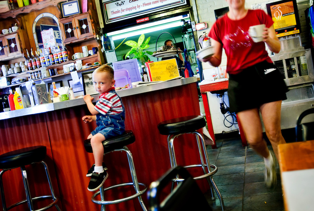 Christopher Jacobs, 3 sitting at the bar in Campo Diner..Photographer: Chris Maluszynski /MOMENT