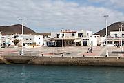 Lineas Maritima Romero ferry ticket booking office, Caleta de Sebo village,  La Isla Graciosa, Lanzarote, Canary Islands, Spain