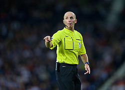 WEST BROMWICH, ENGLAND - Monday, August 10, 2015: Referee Mike Dean takes charge of West Bromwich Albion versus Manchester City during the Premier League match at the Hawthorns. (Pic by David Rawcliffe/Propaganda)
