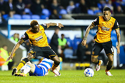 Moses Odubajo of Hull City and Abel Hernandez of Hull City in action - Mandatory byline: Jason Brown/JMP - 07966 386802 - 19/04/2016 - FOOTBALL - Madejski Stadium - Reading, England - Reading v Hull City - Sky Bet Championship