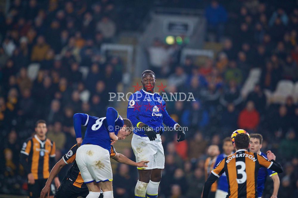 KINGSTON-UPON-HULL, ENGLAND - Friday, December 30, 2016: Everton's Ross Barkley scores the second goal against Hull City to equalise the score at 2-2 during the FA Premier League match at the KCOM Stadium. (Pic by David Rawcliffe/Propaganda)