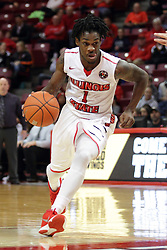 27 November 2015: Paris Lee(1). Illinois State Redbirds host the Quincy Hawks at Redbird Arena in Normal Illinois (Photo by Alan Look)