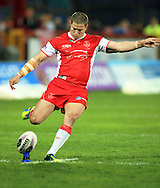 Travis Burns of Hull Kingston Rovers attempts to kick the extras during the First Utility Super League match at Craven Park, Hull<br /> Picture by Richard Gould/Focus Images Ltd +44 7855 403186<br /> 17/04/2014