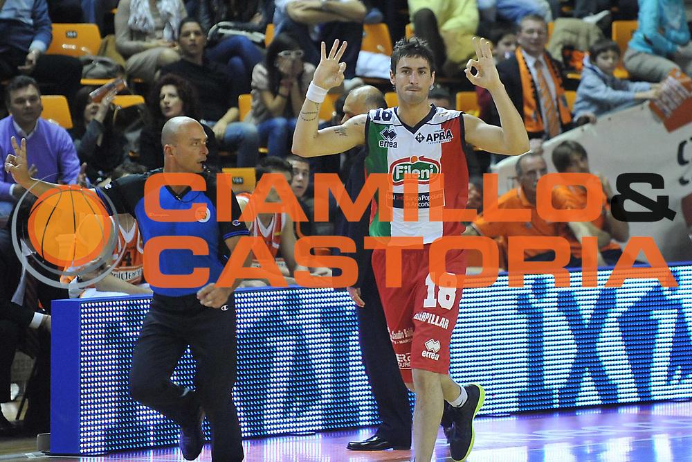 DESCRIZIONE : Udine Lega A2 2010-11 Snaidero Udine Fileni BPA Jesi<br /> GIOCATORE : Franco Migliori<br /> SQUADRA : Fileni BPA Jesi<br /> EVENTO : Campionato Lega A2 2010-2011<br /> GARA : Snaidero Udine Fileni BPA Jesi<br /> DATA : 20/03/2011<br /> CATEGORIA : Esultanza<br /> SPORT : Pallacanestro <br /> AUTORE : Agenzia Ciamillo-Castoria/S.Ferraro<br /> Galleria : Lega Basket A2 2010-2011 <br /> Fotonotizia : Udine Lega A2 2010-11 Snaidero Udine Fileni BPA Jesi<br /> Predefinita :