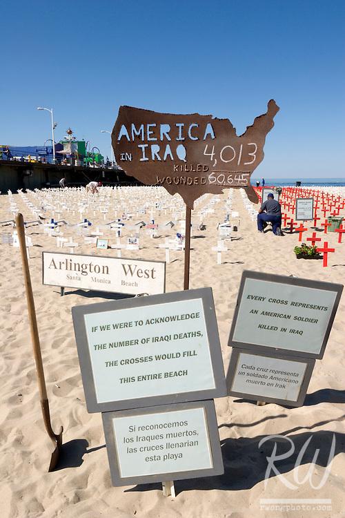 Arlington West Memorial, Santa Monica, California