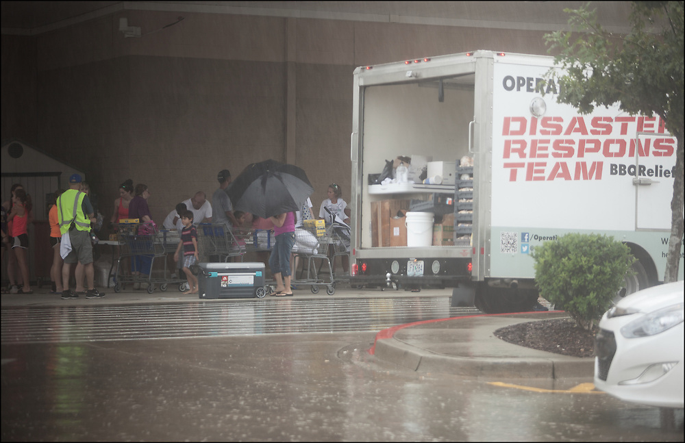 Operation Disaster Response Team helping feed residents of Walker, Louisiana after major flooding took everything.