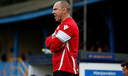 Garry Issott giving orders during the Pre-Season Friendly match between St Albans FC and Crystal Palace at Clarence Park, St Albans, United Kingdom on 21 July 2015. Photo by Michael Hulf.