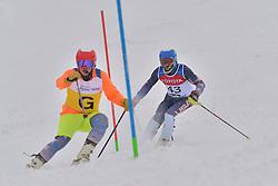 BATHUM Mark Guide: YAMAMOTO Cade, B3, USA at 2018 World Para Alpine Skiing World Cup slalom, Veysonnaz, Switzerland
