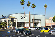 XXI Forever Entrance At South Coast Plaza Shopping Mall