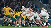 Twickenham, Great Britain, Forward drive, with Ben MOGAN holing the ball at the back, during the  QBE Autumn International, England vs Australia, played at the RFU Stadium, Twickenham, ENGLAND. 16:15:47   Saturday  29/11/2014  [Mandatory Credit; Peter Spurrier/Intersport-images]