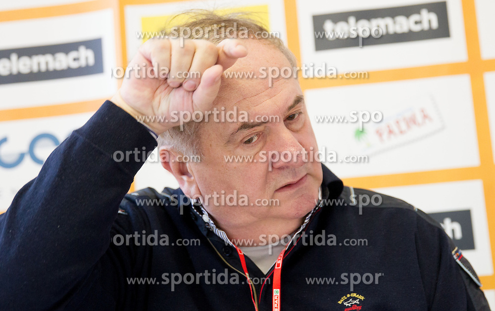 Bozidar Maljkovic during press conference of Basketball Federation of Slovenia on February 10, 2013 in Arena Golovec, Celje, Slovenia. (Photo By Vid Ponikvar / Sportida)