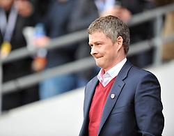 Cardiff City Manager, Ole Gunnar Solskjær - Photo mandatory by-line: Alex James/JMP - Tel: Mobile: 07966 386802 22/02/2014 - SPORT - FOOTBALL - Cardiff - Cardiff City Stadium - Cardiff City v Hull City - Barclays Premier League