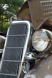 7 August 2010: 1935 Ford Phaeton, V8. Antique Car show, David Davis Mansion, Bloomington Illinois