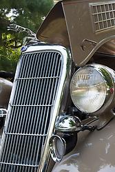 7 August 2010: 1935 Ford Phaeton, V8. Antique Car show, David Davis Mansion, Bloomington Illinois