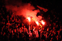 Photo: Glyn Thomas.<br />England v Argentina. International Friendly. 12/11/2005.<br />Argentinian fans let off flares as the game starts.