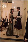BETSY GLASGOW; JAMIE LINDSAY,  Oxford University Polo club Ball, Blenheim Palace. Woodstock. 6 March 2015